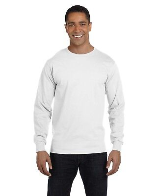 NEW Gildan Tshirt Tee 5.6 oz DryBlend 50/50 Men's Long Sleeve Blank 8400