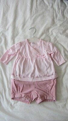 Next Girls 2 Piece Outfit - Top & Shorts - Upto 3 Months