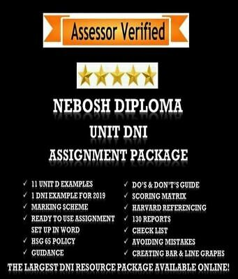 NEBOSH Diploma Unit DNI Assignment Pack 2019 Example + Reports + Guidance & MORE