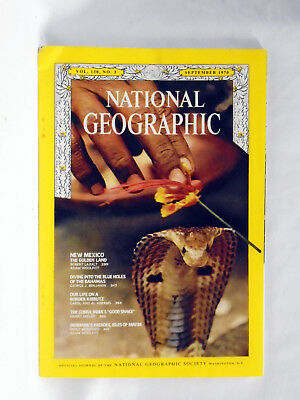 National Geographic magazine September 1970  Mexico Bahamas Kibbutz Cobra