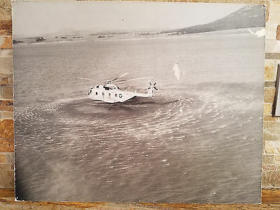 Large Vintage Vietnam Era Photo of CH-3 Water Landing - Great Condition