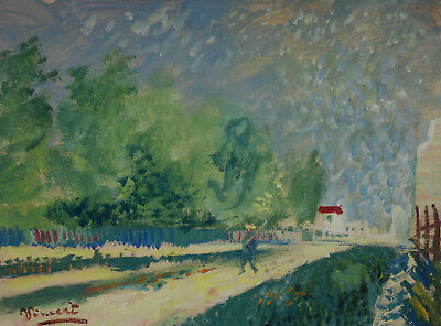 Rare Post-Impressionist masterpiece painting, signed, Vincent van Gogh with COA