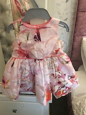 Genuine Ted Baker Baby Girl Dress 6-9 Months