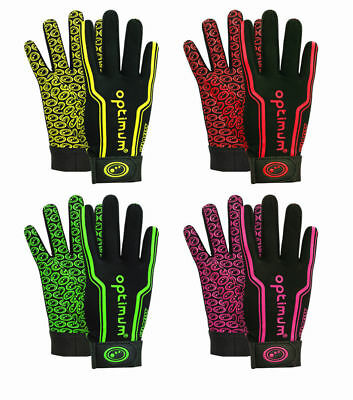 Optimum Velocity Full Finger Thermal Stik Mit Rugby Gloves All Sizes