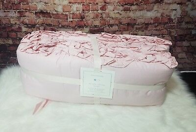 Pottery Barn Baby the Ruffled Collection Crib bumper one size Pink Hand tufted