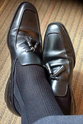 fdb214067a5a Magnanni Men s USED WORN Black Leather Tassel Loafers size 13M US Made In  Spain