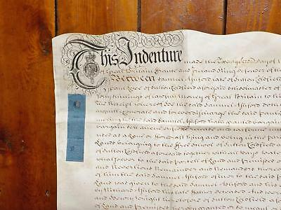 1738 Sutton Coldfield Lease of lane leading to Free School Vellum Deed Indenture