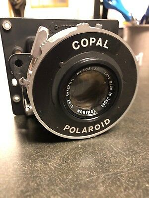 Tominon 127mm F4.7 Lens In Polaroid Copal Shutter attached to Polaroid #88-18