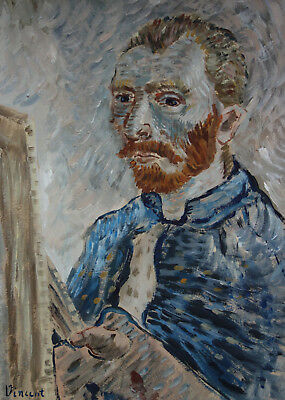 Ultra Rare self portrait painting, signed, Vincent van Gogh with COA and docs.