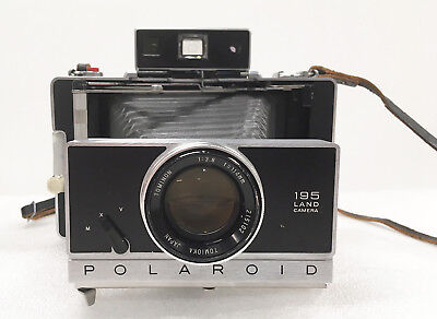 Vintage Polaroid 195 Land Camera with Tominon 114mm f3.8 lens - User