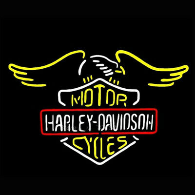"24""X22"" Harley Davidson HD Bike Motorcycle Neon Sign Beer Light FAST FREE SHIP"