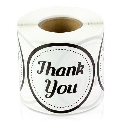 "Thank You Stickers for Weddings Gifts Circle Round Apprecation Labels (2"", 1PK)"