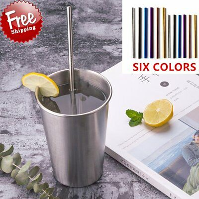 Practical Colorful Design 304 Stainless Steel Straws Reusable Drinking Straw K2