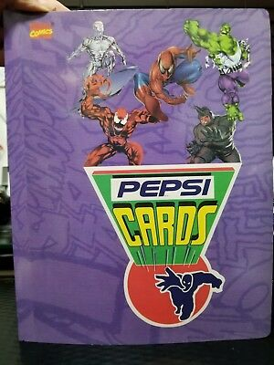 Marvel Pepsi Cards Album Mexico Spanish Ed Rare Comics Iron Man Hulk Spiderman