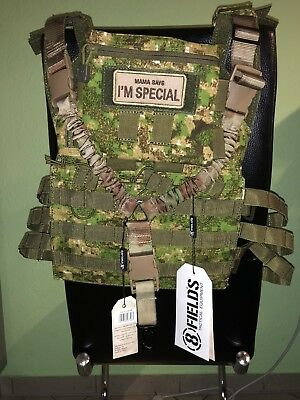 Jump Plate Carrier Set + Admin Pouch + Patch + One Point Sling- Pencott Grnzn
