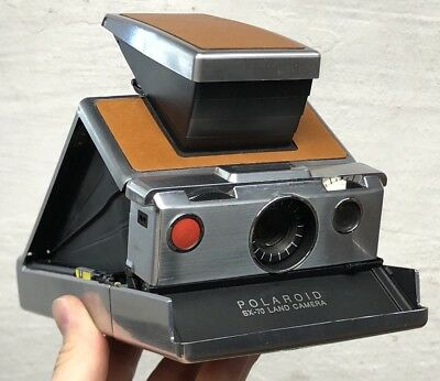 Rare Vintage Polaroid sx-70 Land Camera Instant Leather Very Nice Condition