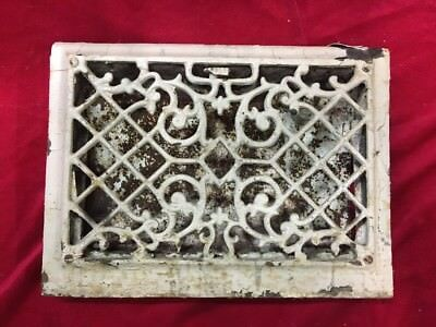 Antique Cast Iron Metal Floor Wall Register Grate Vent Cover Heating Ornate