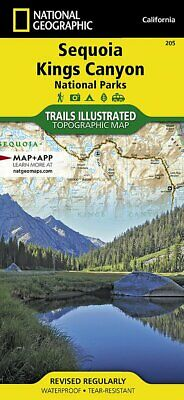 National Geographic Trails Illustrated CA Sequoia Kings Canyon Nat Park Map 205