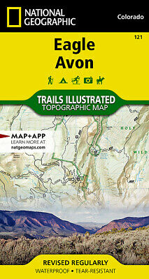 National Geographic Trails Illustrated Colorado Eagle / Avon Topo Trail Map 121