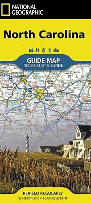 National Geographic GuideMap NC North Carolina Road Map/Travel Guide GM01020542