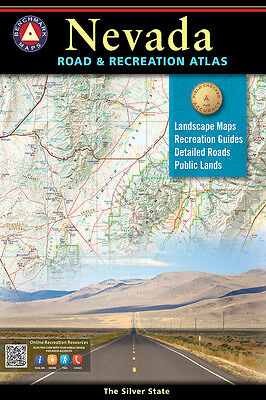 National Geographic Benchmark Nevada NV Road & Recreation Atlas Map BE0BENNVAT