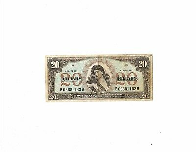MPC Military Payment Certificate $20 dollars Series 661