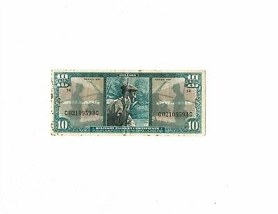 MPC Military Payment Certificate $10 dollars Series 681