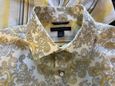 GORGEOUS Pair of Vintage Banana Republic Retro Mens French Cuff Shirts SZ LARGE