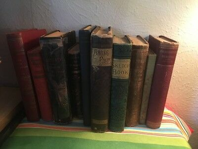 Lot of 10 Antique Collectible Vintage Old Rare Hard cover From The 1800