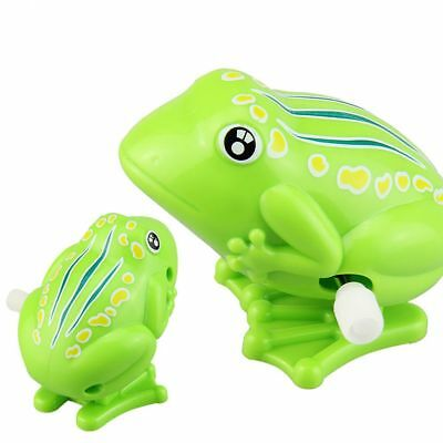 Cute For Kids Green Plastic Clockwork Toy Jumping Frog Wind Up Toy Classic Toys
