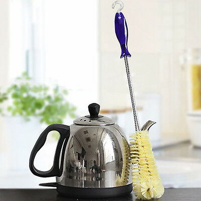 Durable Long Handle Design Bottle Cleaning Brush Teapot Cup Cleaner Kitchen Tool
