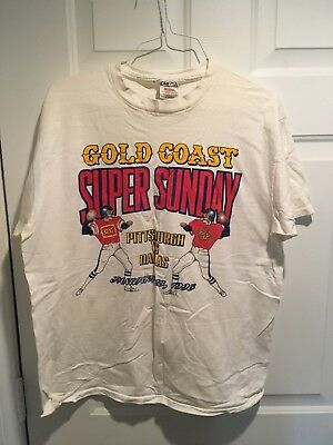 GOLD COAST Casino, Las Vegas, Vintage T-shirt, XL, SUPER BOWL 1996, 012