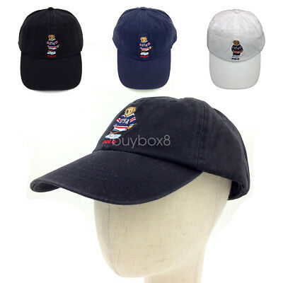 Vintage Polo Embroidery USA Hockey Teddy Bear Men s Hat Baseball Cap Rare 06d934f4228