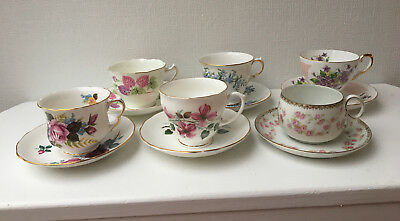 Lot of 6 'Mad Hatter' Tea Party Collection/Tea Cup & Matching Saucers - 531
