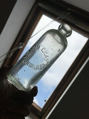 "Early~Hutch-Soda Bottle~""JIM CRAY / OTTUMWA, IOWA"" 1880's~Two Base-Dings~Rare!!"