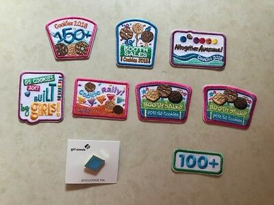 Girl Scout Cookie Sale patches and Cookie Sales Pin lot of 9 brand new