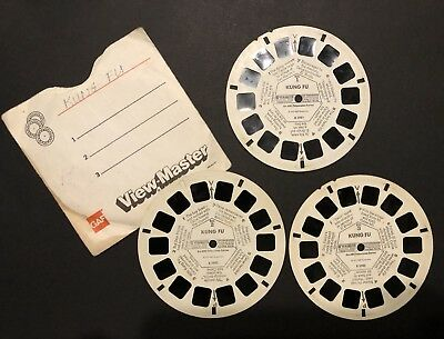 """Vintage ViewMaster """"Kung Fu"""" featuring David Carradine (3 reels)"""