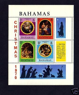 Bahamas - 1970 - Christmas - Holy Family - Nativity - Mint - Mnh S/sheet!