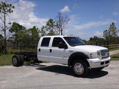 2006 Ford F-550 Cab Chassis 2006 Ford F550 XLT Crew Cab Chassis 4x4 Diesel 1 Owner FL Truck F-550 Super Duty