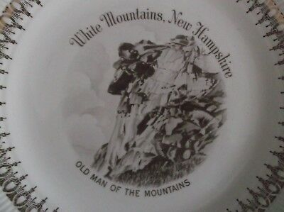 Vintage Old Man of The Mountain Views Of America Series Plate 22 K Gold Trim