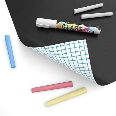 Blackboard Sticker Self Adhesive Chalkboard Contact Paper Black Chalk Paper