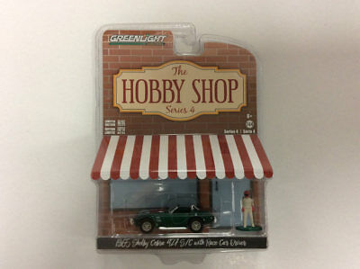 Greenlight 1:64 The Hobby Shop 1965 Shelby Cobra Racer Car Driver GREEN MACHINE