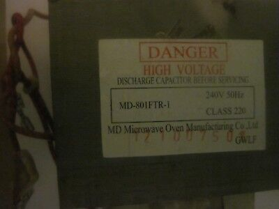 Microwave Main Power Transformer Replacement Part Md-801Ftr-1