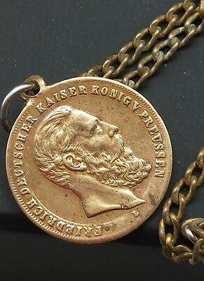 1888 GERMAN MEDAL / pendant for DEATH OF FREDERICK 3rd