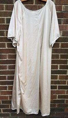 VTG Lane Bryant Womens Plus  5X Ivory Long Nightgown Sleepwear Kimono