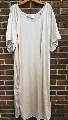 VTG Lane Bryant Womens Plus  5X Champagne Ivory Long Nightgown Sleepwear Kimono
