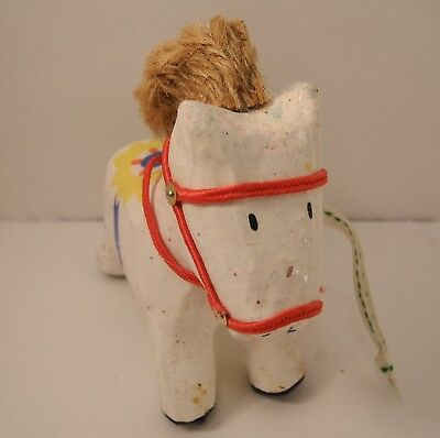 1992 VINTAGE Mary Engelbreit Horse Christmas Tree Ornament Paper Mache Hallmark