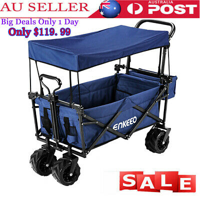 Foldable Utility Wagon Trolley Sport Outdoor Cart Camping Beach Sporting Concert