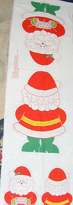 Sewing panel fabric material Santa Claus bright 12-20 doll toy Christmas Springs