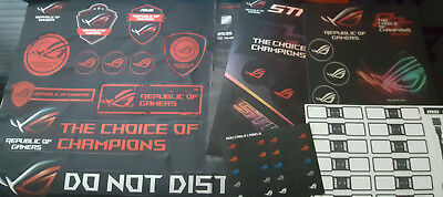 Asus ROG, MSI Gaming, Gigabyte G1 Stickers, cable label stickers, Door hanger